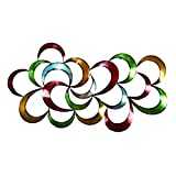 Bellaa 27468 Abstract Metal Wall Art Modern Colorful 3D 35 inch