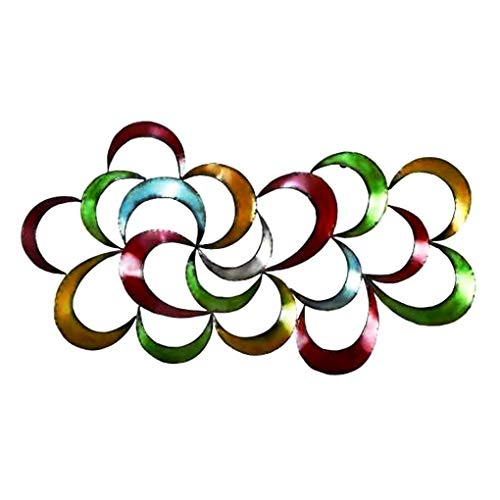 Bellaa 27468 Metal Wall Art Colorful Abstract 3D 35""