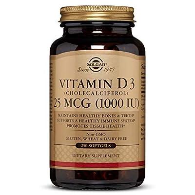 Solgar - Vitamin D3 (Cholecalciferol) 1,000 IU, 250 Softgels