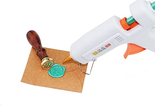 Gift Pro 110~240V 60W 50/60Hz Melt Glue Gun Best for Wax Seal for Postage Letter Retro Vintage Wax Seal Stamp DIY Craft Projects and Quick Repairs (Wax Seal Special Gun)