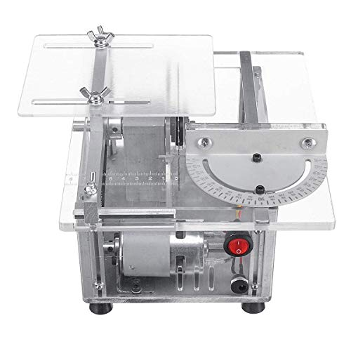 LSS-MDS Holzdrehmaschinen, Schneidemaschine 100W 100V-240V Multifunktions-Mini-Tischkreissäge Holzbearbeitungsdrehbank DIY-Schneidemaschine