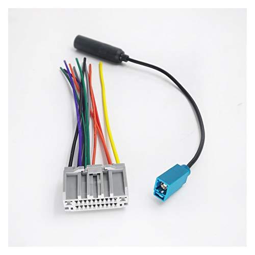 Yuanmei Aptos for el automóvil Radio CD estéreo Fakra arnés de cableado de la Antena Adaptador de Cable de Alambre en Forma for el Jeep Wrangler Dodge Chrysler (Color Name : Harness Set)