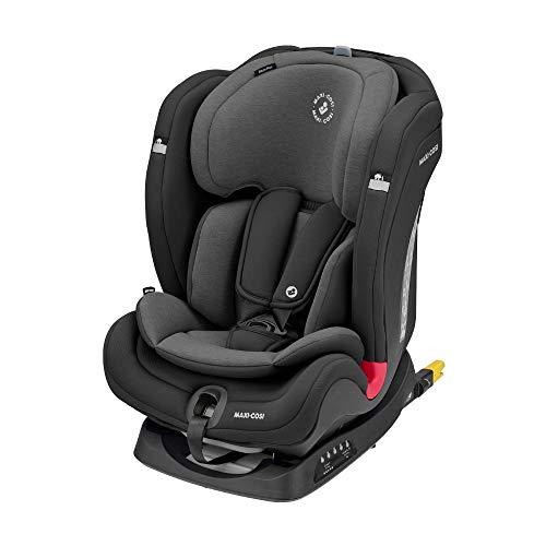 Maxi-Cosi Titan Plus, mitwachsender Kindersitz mit ISOFIX, ClimaFlow Funktion und Liegeposition, Gruppe 1/2/3 Autositz (9-36 kg) nutzbar ab ca. 9 Monate bis 12 Jahre, Authentic Black, schwarz