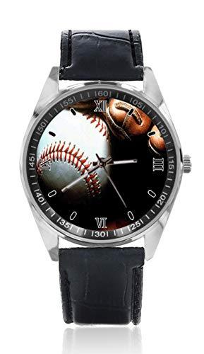 Sport-Baseball-Handschuh, Herren, Ledergürtel, einfache Klassische Sportuhr für Herren, Schlichtes Design und Mode