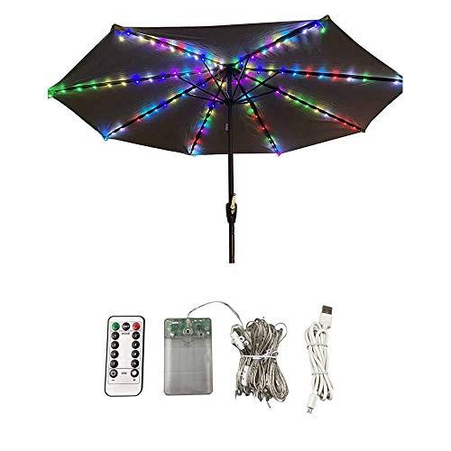 HITECHLIFE Patio Umbrella Lights Outdoor 104 Led Sonnenschirmlampe Mit Fernbedienung wasserdichte Farbe Schnurlose Sonnenschirm Lichterketten Für Patio Garden Camping Zelt