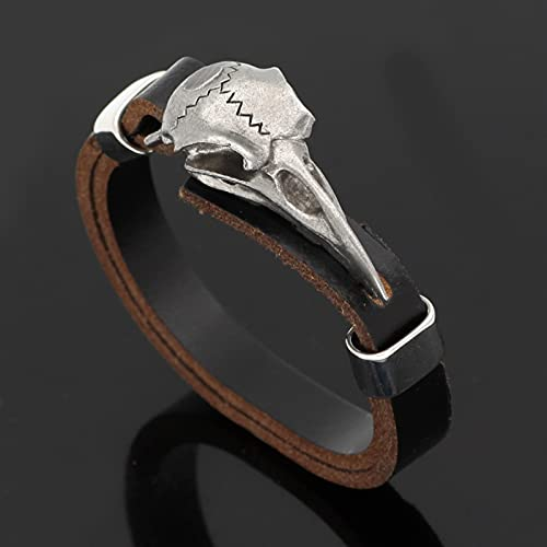 Earthily 2 unids, Hombres De Viking Bangle, pulsera de cuero, brazalete con diseño, brazalete de brazalete de vikingo, pulsera, regalo, joyería para hombres, mujeres, adolescente, brazalete de wkinger