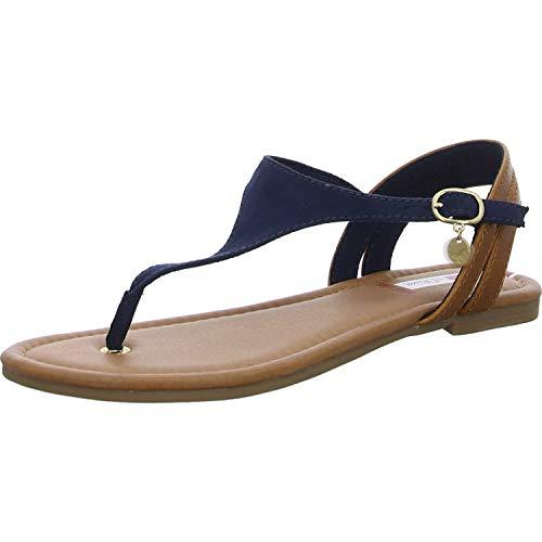 s.Oliver 5-28136-24 Damen Zehentrenner Sandaletten Sandalen, Schuhgröße:39 EU, Farbe:Blau