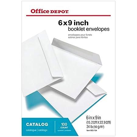 White Booklet Gummed Envelopes 100//case 9 x 6- ULINE