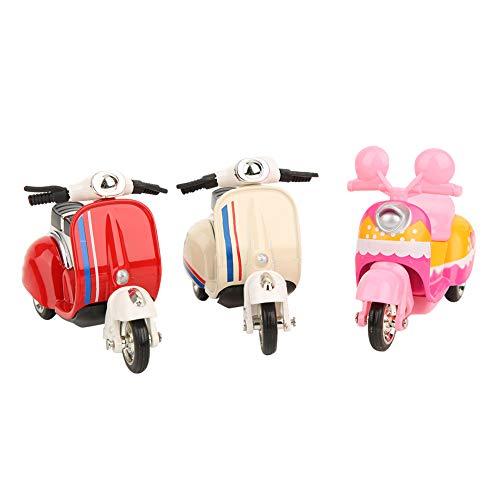 Cerlingwee Alu Frauen Motorrad Modell, Motorrad Spielzeug, Hochwertiges Motorrad, Kinder Pull Back Vehicles Spielzeug, Multifunktion für Office Desktop Decor Motor Toy Home