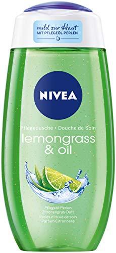 NIVEA Pflegedusche Lemongrass & Oil (250 ml), erfrischendes Duschgel mit wertvollen Ölperlen, verwöhnende Dusche mit revitalisierendem Zitronengras-Duft