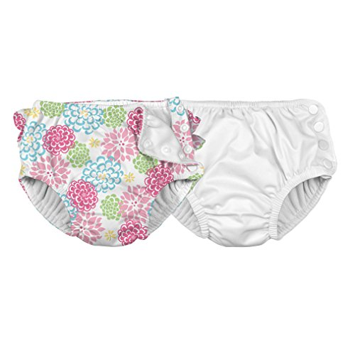 i play. Baby Boys' Reusable Absorbent Swim Diapers, Pack of 2