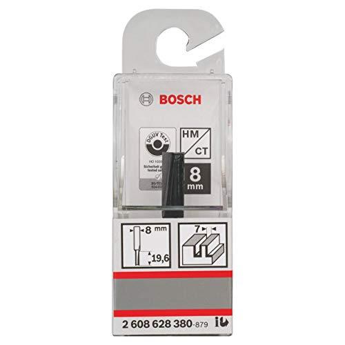 Bosch Professional Nutfräser Standard for Wood (für Holz, Ø 8 mm, Arbeitslänge 19,6 mm, Zubehör Handfräse)