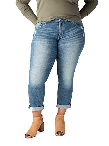 Fashion Shopping Signature by Levi Strauss & Co. Gold Label Women's Mid Rise Slim Boyfriend