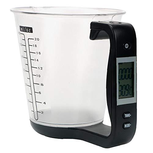 Nicedier Digital Taza de medición del hogar LCD Hornear Escala de Cocina electrónica Jaguar Escala para la Leche en Polvo Preparación Negro Accesorios de Cocina