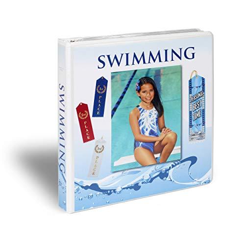Mercurydean Swimming Gift Award Ribbon Binder Organizer Display Storage Swimmer Present Ribbons Holder 15 Pages Sheets and More