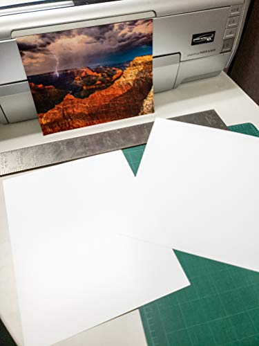"""5"""" X 7"""" Smooth Fine Art Archive Bright White Double Sided Inkjet - 50 Sheets"""