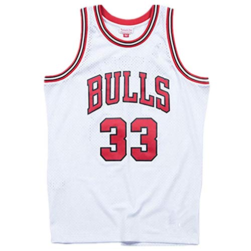 Miyapy NBA Jersey Chicago Bulls #33 Scottie Pippen Sommer Herren Trikot Basketball Uniform Stickerei Tops Basketball Anzug Trikots Schwarzgold-Trikot