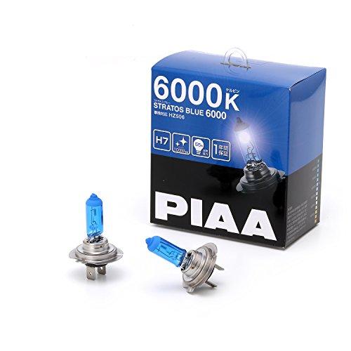 PIAA ヘッドランプ/フォグランプ用 ハロゲンバルブ H7 6000K ストラスブルー 車検対応 2個入 12V 55W(100W相当) 安心のメーカー保証1年付 HZ506