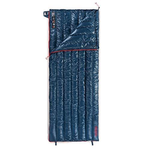 SSG Home Durable et Beau Sac de Couchage Camping Voyage en Plein air vers Le Bas Nylon Tissu épais Chaud Adulte Voyage intérieur Respirant Portable étanche Confortable et Portable (Color : A)