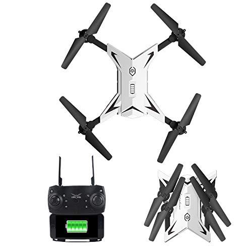 POI Mini fotografía fotográfica Drone Foldable RC Quadcopter con 2 baterías, sostenga de altitud, Modo sin Cabeza, un Ajuste de Llave de despegue y Velocidad, fácil Juguete para Principiantes,Blanco