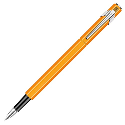 Caran d'Ache 849 - Pluma estilográfica (metal), color naranja