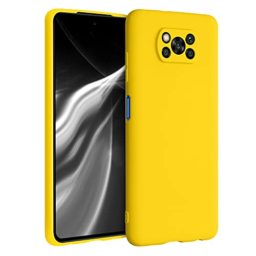 kwmobile Carcasa para Xiaomi Poco X3 NFC/Poco X3 Pro - Funda para móvil en TPU Silicona - Protector Trasero en amarilo Brillante