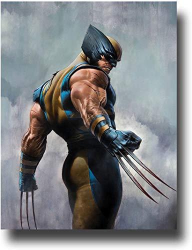 SSKJTC Wall Decor Kunstdruck-Poster X Men Wolverine Mutant in the Rain Kunstwerk für Wohnzimmer Schlafzimmer 61 x 91 cm