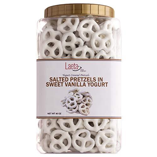 Yogurt Covered Pretzels, Salted Pretzels in Sweet Vanilla Yogurt, 40 Ounces