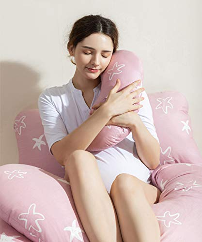 Pregnancy Pillow, U-Shape Full Body Maternity Pillow for...