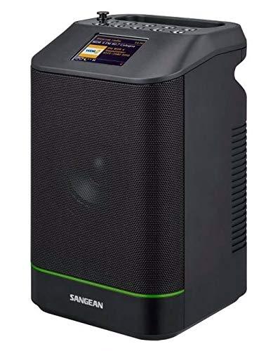 Sangean WFS58 DAB+ Radio | UKW | Wi-fi und Bluetooth Lautsprecher | Tragbares Internet Radio mit NFC | WiFi | Schwarz