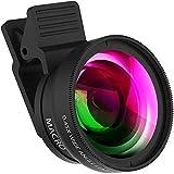 APEXEL Kit obiettivo fotocamera cellulare 2 in 1:obiettivo fotocamera super grandangolare 0,45X e obiettivo macro 12,5X compatibile con iPhone Android e la maggior parte degli smartphone