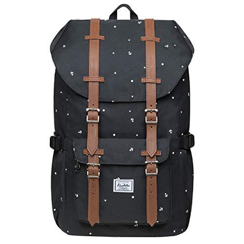 KAUKKO Rucksack Damen Herren Schön und Praktisch Daypack mit Laptopfach für 13