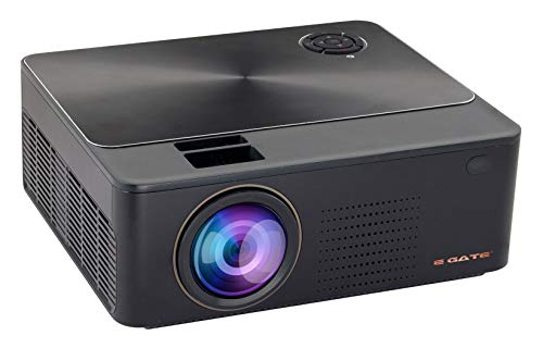 """Egate K9 720p (1080p Support) , 3000 L (360 ANSI ) with 180 """" Large Display LED Projector   VGA , AV, HDMI , SD Card , USB Connectivity   (E09k61) (Black)"""