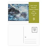ノクターンハ短調xjj油絵 詩のポストカードセットサンクスカード郵送側20個