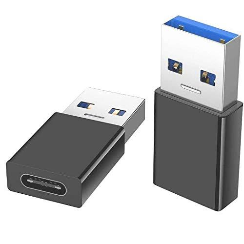 INVID 2Stück 5Gbit/s ECHTE USB3.1 Adapter, Aluminium Gehäuse, Adapter USB c auf USB für Ihr Kabel, USB c auf USB, USB c, USB auf USB c, USB a auf USB c, USB-c Adapter, USB c auf USB Adapter, USB c