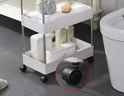 Decoración completa CSQ carro de cocina de plástico, carrito rodante para espacios estrechos, fácil de instalar para dormitorios, cocinas, baños, plástico, Blanco, 13.1*40.5*62CM