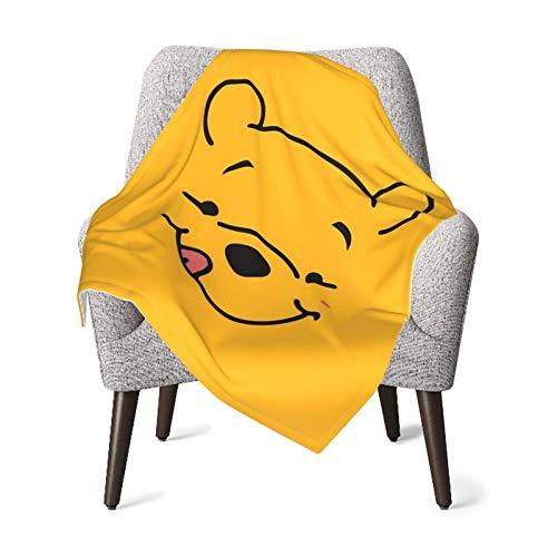 Hdadwy Linda manta de Winnie Pooh para bebé, manta unisex para niños, manta súper suave y cálida para niños, para cuna, sillón, sala de estar, viajes, talla única