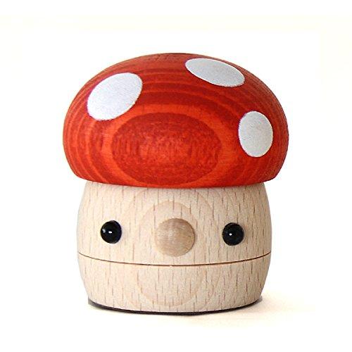 自然に触れて遊ぶ グッドトイ選定商品 こまむぐ 木のおもちゃ どんぐりきのこ 赤(新仕様)