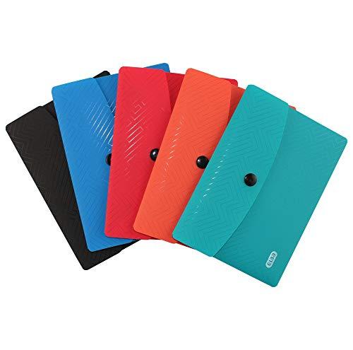 ELBA Urban Brieftaschen A6, aus Kunststoff, blickdicht, blickdicht, 5 Farben, 5er Pack