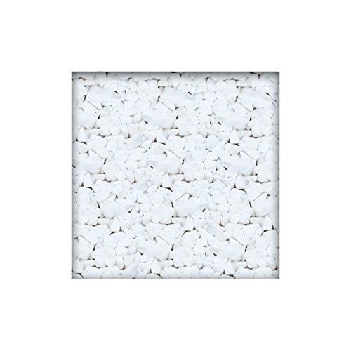 Marmorsplitt Schneeweiss 8/12 mm Dekosplitt Garten Deko Zierkies 10 kg (2 x 5 kg Sack)