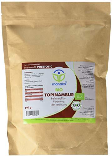 manako prebiotic BIO Topinambur Pulver, 500 g Zipbeutel (1 x 0,5 kg)