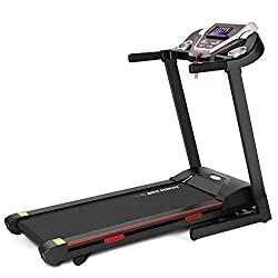 Foldable design for easy storage, Easy to fold and unfold with the hydraulic arm that locks the treadmill into place. The soft drop system allows the treadmill to be easily and smoothly unfolded ,save your floor space at home or office and time to go...