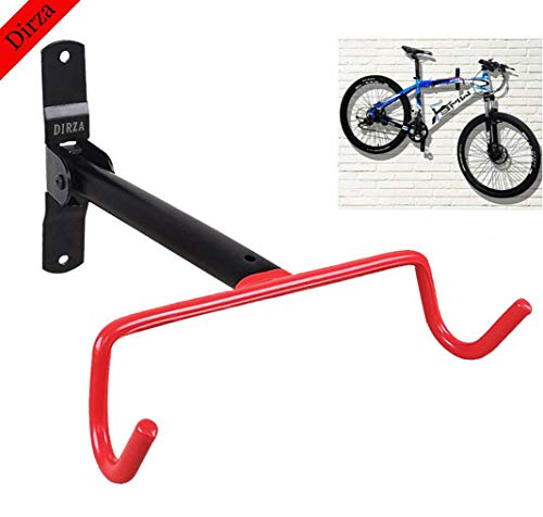 Wall Mount Bike Hanger Dirza Flip Up Garage Bicycle Bike Rack Storage System for Garage Shed with Screws 1 Pack
