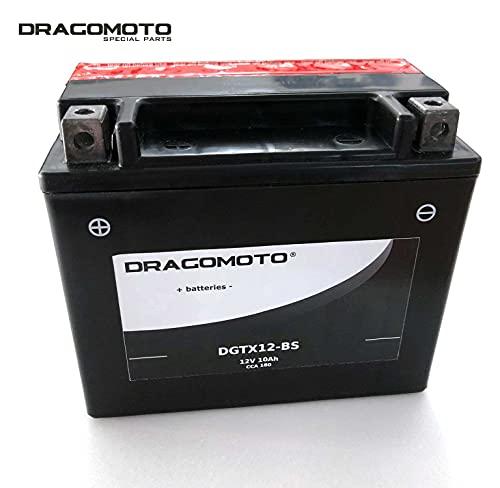 Batteria Dragomoto compatibile con KAWASAKI ER-6N ABS 650 2008 2009 YTX12-BS DGTX12-BS