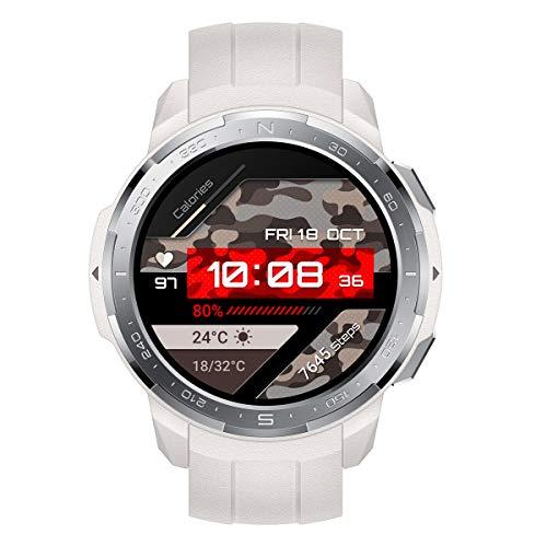 HONOR Watch GS Pro - GPS-Multisport-Smartwatch mit Robustes Gehäuse, 25-tägiger Akkulaufzeit, 1,39-Zoll-AMOLED, schwimmbereit, SpO2, Herzfrequenz-Tracking, kompatibel mit Android und iOS (Grau)