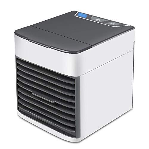 GGAOXINGGAO Nuevos fanáticos Mini portátil USB de Carga TV Aire Acondicionado Ventilador eléctrico de Escritorio Enfriador de Aire (Color : Black)