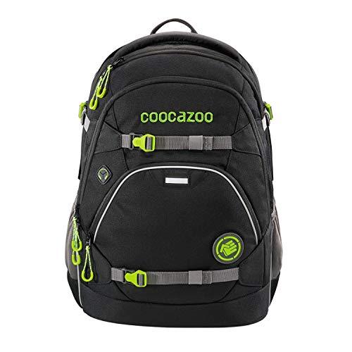 coocazoo Schulrucksack ScaleRale Watchman schwarz, ergonomischer Tornister, höhenverstellbar mit Brustgurt und Hüftgurt für Jungen ab der 5. Klasse, 30 Liter