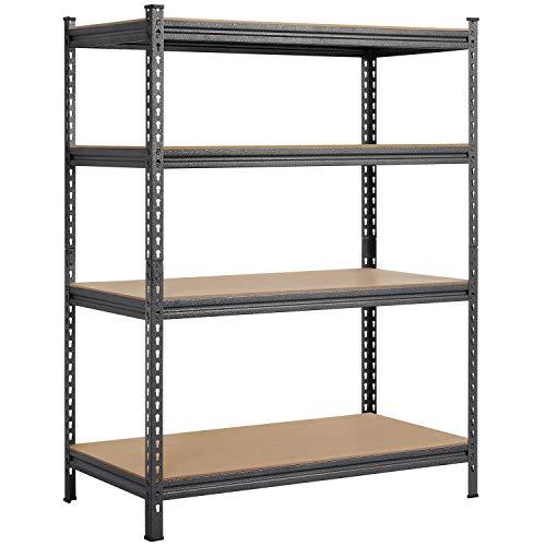 Yaheetech 4-Tier Storage Shelves Heavy Duty Garage Shelf wAdjustable Shelves 44Lx 236W x 59H