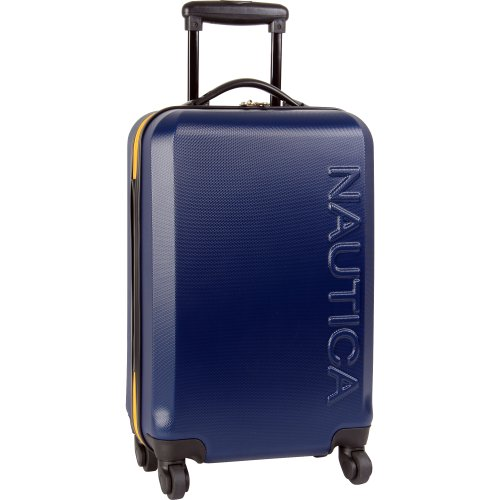 Nautica 24' Hardside Expandable Spinner Luggage, Navy/Yellow