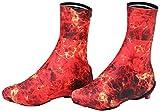 Cubrezapatillas ciclismo invierno Cubiertas de zapatos de ciclismo, sobrepresos a prueba de polvo a prueba de polvo a prueba de viento, cálidos duraderos para damas masculinas para montar alpinismo